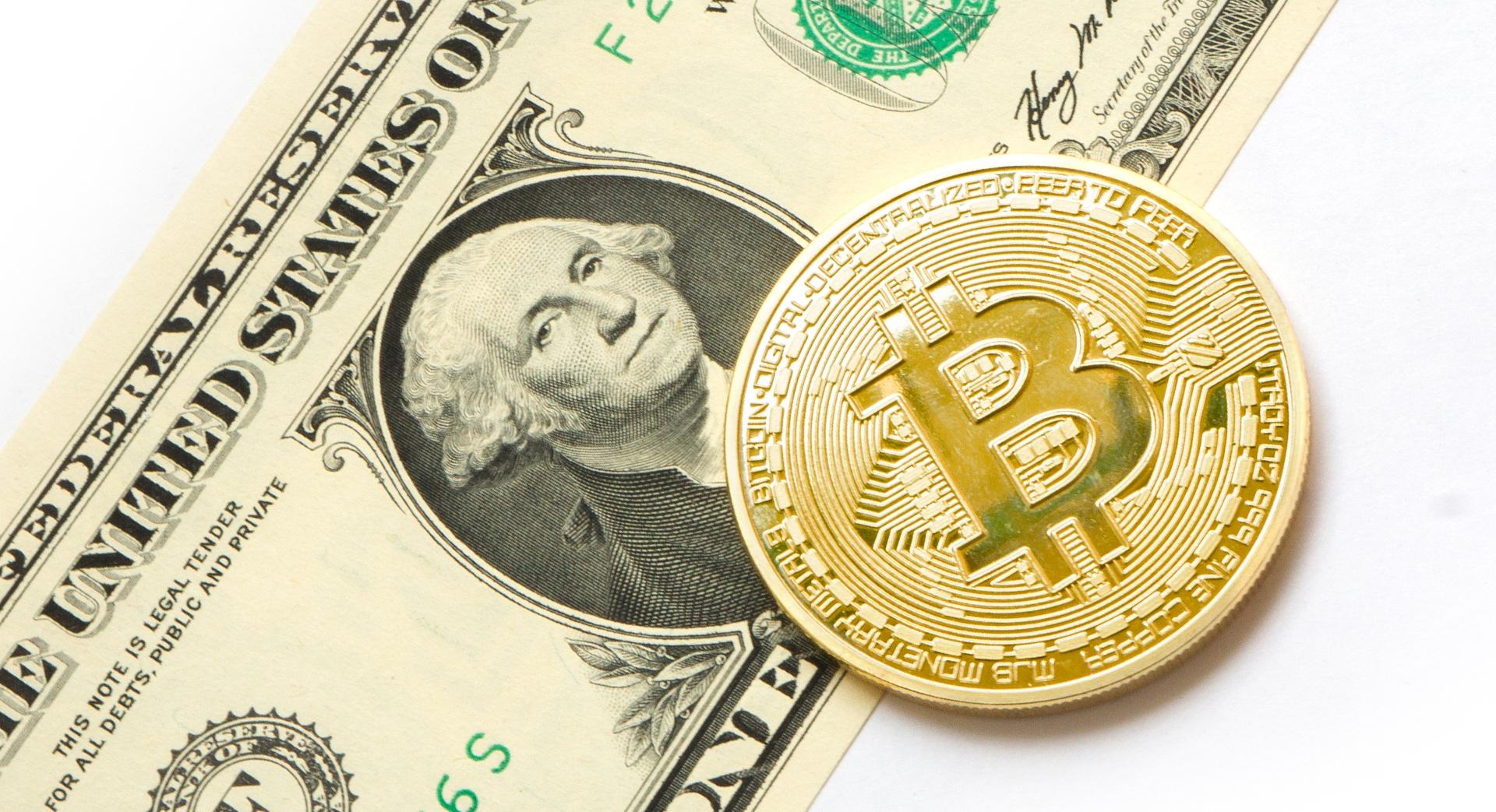 En Bitcoin och En Dollar