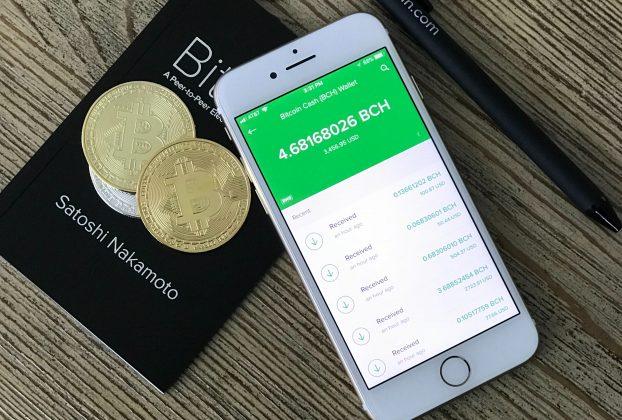 Bitcoin Cash i en iPhone